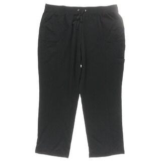 Karen Scott Womens Plus Cargo Pants Pull On Drawstring - 1x