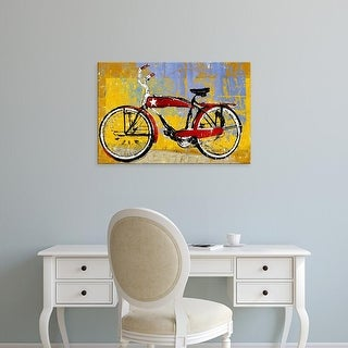 Easy Art Prints Daryl Thetford's 'Red Bike with Star' Premium Canvas Art