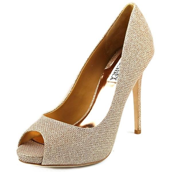 Badgley Mischka Ponderosa Women  Open Toe Synthetic Gold Platform Heel