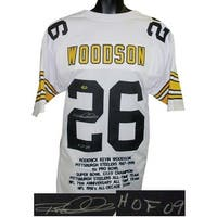 Rod Woodson signed White TB Custom Stitched Pro Style Football Jersey HOF 09 XL w Embroidered Stats