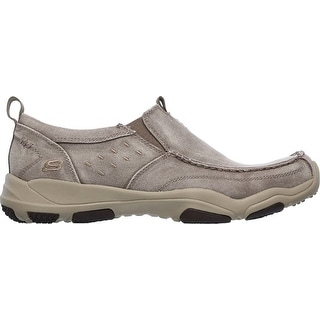 Skechers Mens Larson Bolten Slip-On,Taupe