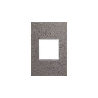 "Legrand AWM1G2HFFE4 adorne Hubbardton Forge Metal 1 Gang Wall Plate - 3.5"" Wide - natural iron"