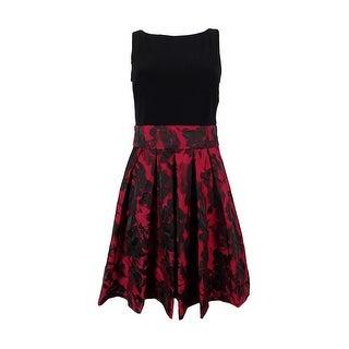 Ralph Lauren Women's Floral Print Sleeveless Dress - Red/black