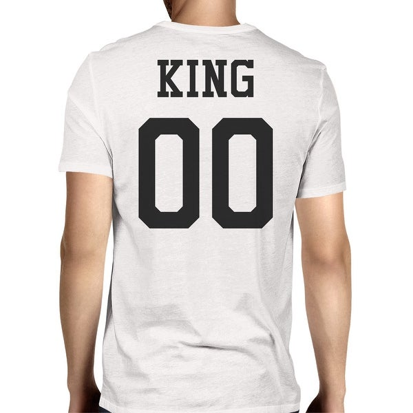 King 00 Back Number White Matching Tee For Couple Photo Shoots