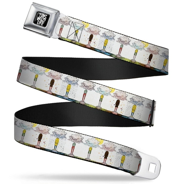 This Wild Life Full Color Black White This Wild Life Clouded People Webbing Seatbelt Belt