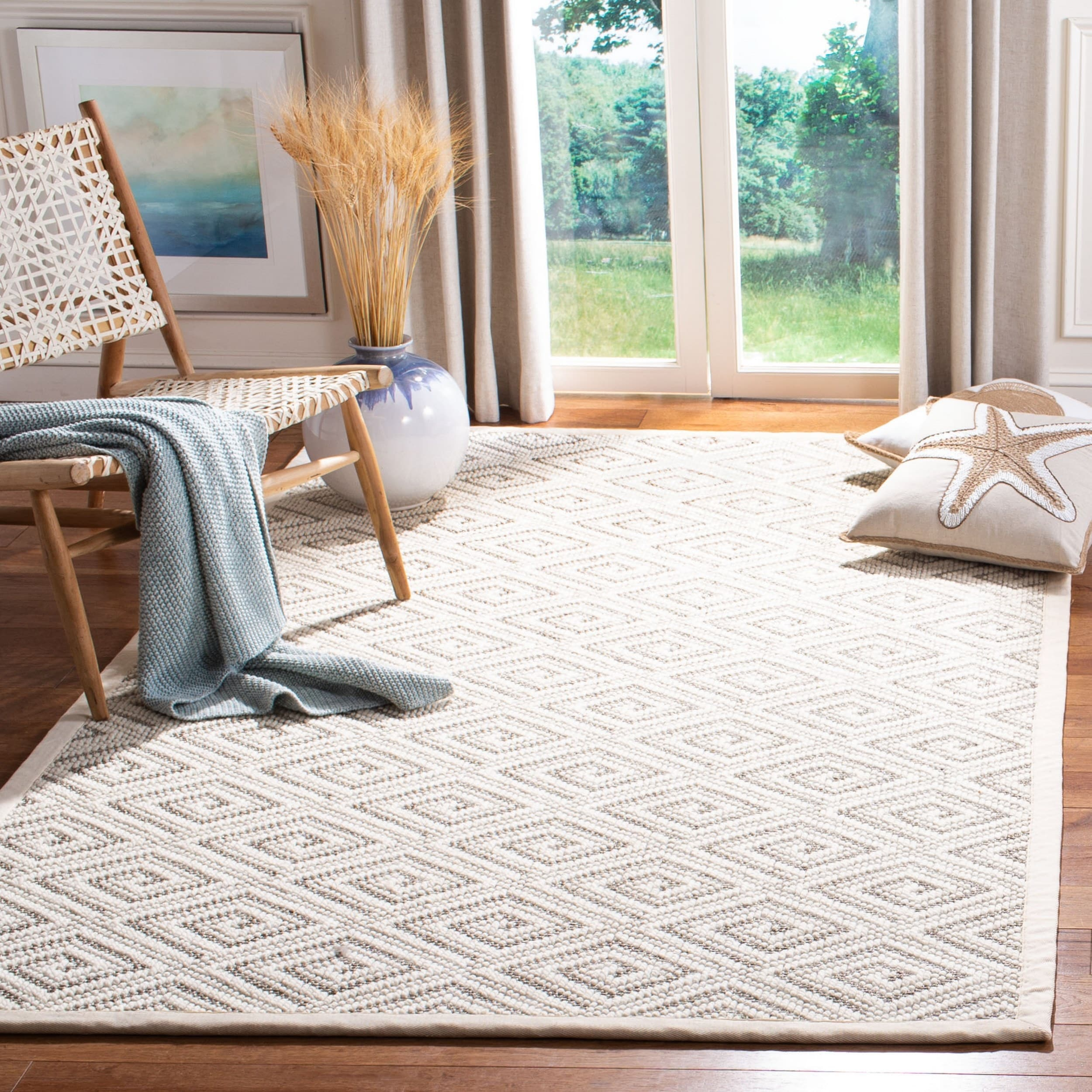 Safavieh Handmade Palm Beach Modern Contemporary Geometric Sisal Rug Overstock 27793265