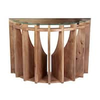 """Dimond Home 985-039 Wooden Sundial 30""""H X 16""""W X 42""""L Console Table"""
