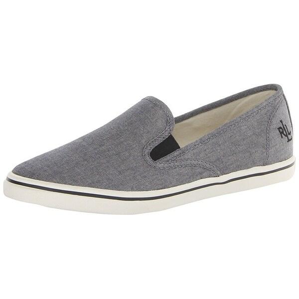 LAUREN by Ralph Lauren Womens Janis Fabric Low Top Slip On Fashion Sneakers