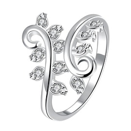 Classic Crystal Multi-Petite Gem Inserted Swirl Ring
