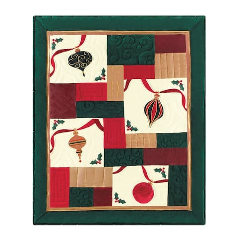 Holiday Sparkle Hand Pieced Quilted Throw Blanket