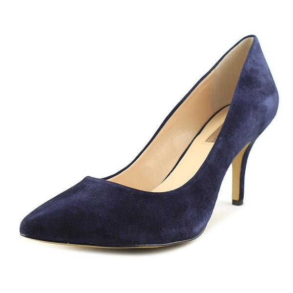 INC International Concepts Zitah Women W Pointed Toe Suede Blue Heels