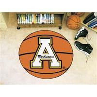 FANMATS 3202 Appalachian State Basketball Rugs 29 in. diameter