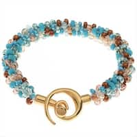 Beaded Kumihimo Bracelet - Blue Tones - Exclusive Beadaholique Jewelry Kit