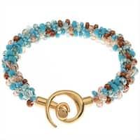 Beaded Kumihimo Bracelet - Blue Tones - Exclusive Beadaholique Jewelry Kit