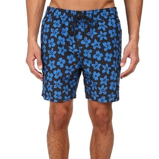 Jack Spade NEW Blue Men Size Small S Floral Grannis Trunk Swimwear