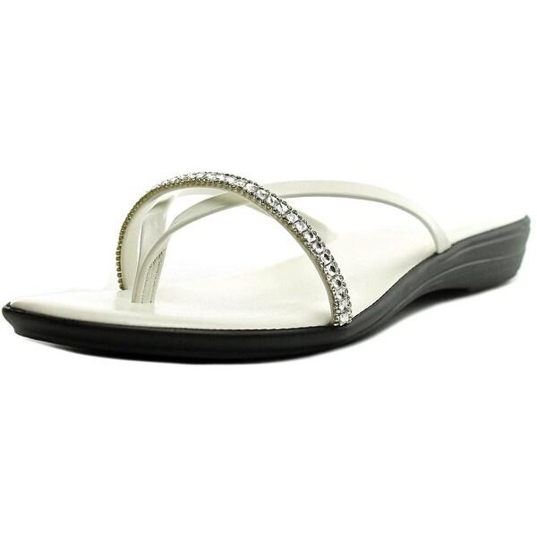 Easy Street Auletta Women W Open Toe Synthetic White Thong Sandal