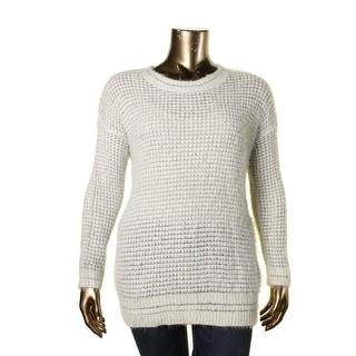 Rachel Roy Womens Metallic Eyelash Pullover Sweater