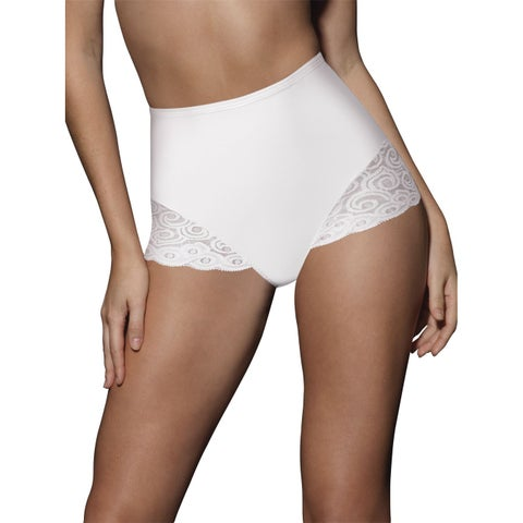 Bali Women's Firm Control Lace Brief - 2 Pack