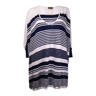 Tommy Bahama Women's Oversized Stripe Coverup - mare navy