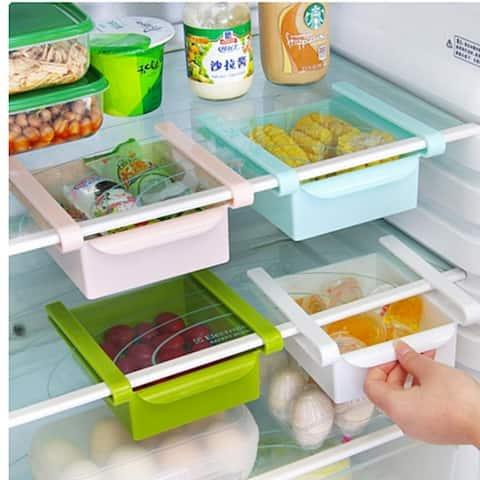 Generic Tic Type Refrigerator Storage Rack Refrigerator Fresh Ideas Separator Shelf Holder Organizer Storage Box