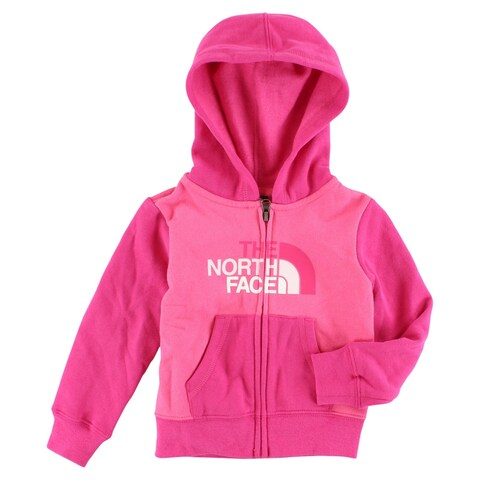 The North Face Baby Girls Logowear Full Zip Hoodie Pink - Pink/Hot Pink