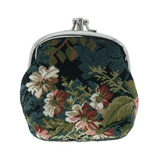 Link to CTM® Women's Floral Print Tapestry Coin Purse Wallet - one size Similar Items in Wallets