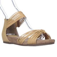 GB35 Jhene Strappy Flat Ankle Strap Sadndalss, Orche