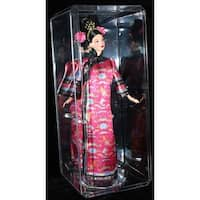 Doll Large Crystal Clear Display Case 155 inch tall with Clear Base