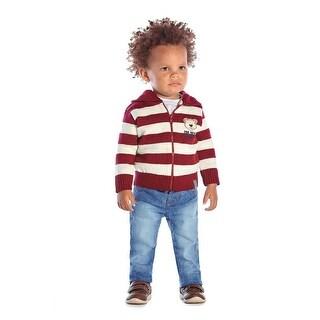 Baby Boy Zip-up Hoodie Infant Sweater Winter Jacket Pulla Bulla 3-12 Months