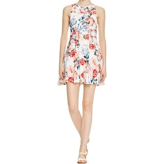 Minkpink Womens Sundress Floral Print Pleated