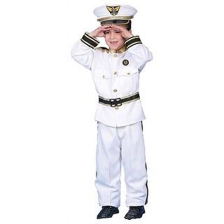 Deluxe Kid's Navy Admiral Costume