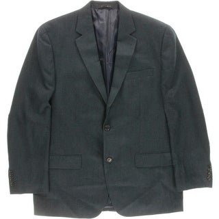 Andrew Fezza Mens Pattern Notch Lapel Two-Button Suit Jacket - 42R