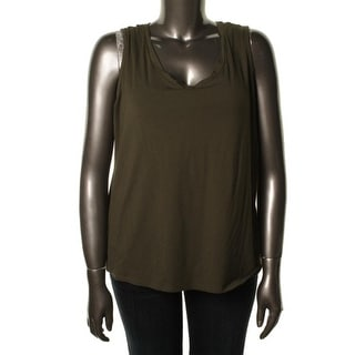 Elementz Womens Plus Modal Blend Sleeveless Casual Top - 1X