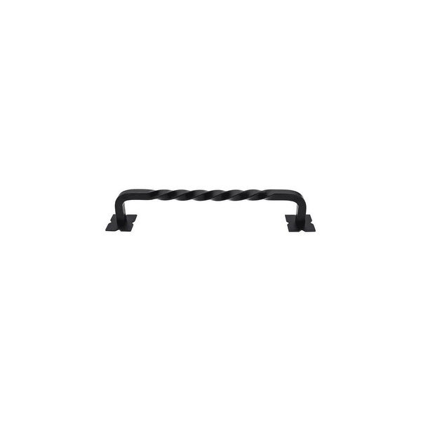 """Top Knobs m1246-12 Twist 12"""" Center to Center Handle Appliance Pull from the Appliance Series - patina black"""