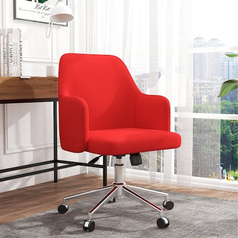 Home Office Task Chair Adjustable Height Cute Desk Chair Fabric Office Chair Modern Comfortble Nice Task Chair for Computer Desk