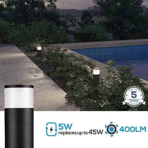 Sylinteri LED Pathway Light, 5W Low Voltage, 4000K Cool White