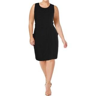 City Chic Womens Plus Wear to Work Dress Sleeveless Textured