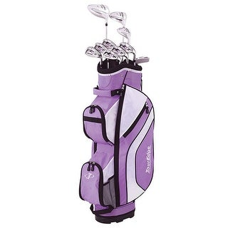 New Tour Edge Ladies Reaction 3 Complete Set RH w/ Cart Bag - purple / white / black