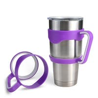 2PCS 30 oz Tumbler Handles for Rtic YETI Rambler 30 oz (Handle Only) Purple and White