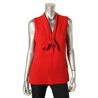 MICHAEL Michael Kors Womens Petites Blouse Halter Top Sleeveless - 10P