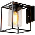 Metal Industrial Glass Wall Sconce Wall Lamp Light - Thumbnail 0