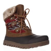 BareTraps Yaegar Lace-Up Cold-Weather Booties, Whiskey
