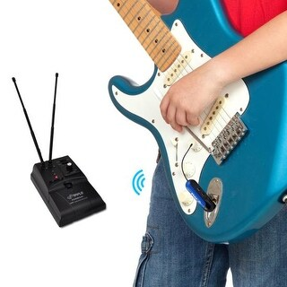Premier Series UHF Wireless Guitar/Instrument Bug Transmitter Receiver System, Adds Wireless Functionality