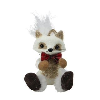 "Link to 5"" White and Beige Mini Sitting Fox Christmas Ornament Similar Items in Christmas Decorations"
