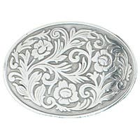 Silver Tone Floral Belt Buckle