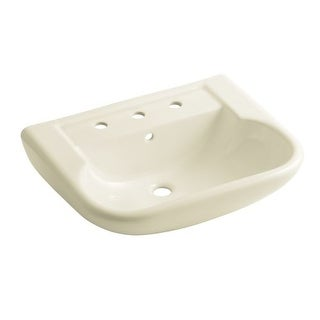 "Sterling 446428 Southampton 23-3/8"" Pedestal Bathroom Sink With Three Holes Drilled And Overflow"
