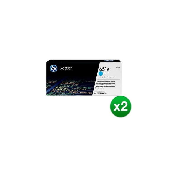 HP 651A Cyan Original LaserJet Toner Cartridge f/ US Government (CE341AG)(2-Pack)