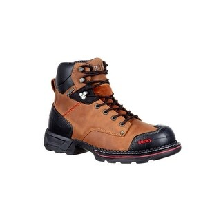 Rocky Work Boots Mens Leather Rubber Heel Toe Crazy Horse RKK0209