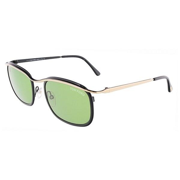 Tom Ford FT0419/S 05N MARCELLO Black/Rose Gold Rectangular sunglasses - 53-19-140
