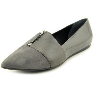 Franco Sarto L-Holland Women Pointed Toe Leather Gray Flats